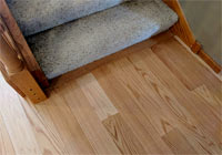 Red Oak Base of stairs