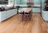Kitchen with white oak rift and quartered hardwood