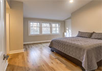 white oak engineered bedroom