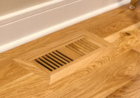 white oak flush mount vent prefinished