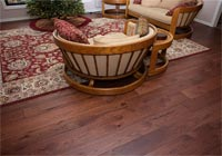 living room, reddish brown Hickory