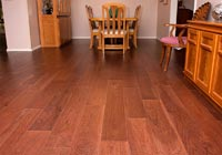 "Reddish brown Hickory 7"" plank"