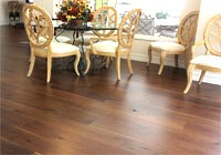 Dining area Walnut hardwood floors