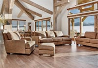 great room over looking Grand Tetons
