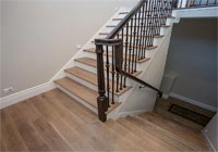 matching hardwood floor stair treads