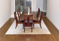 dining room clear white oak stained