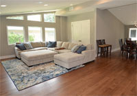 living room wire brushed clear white oak