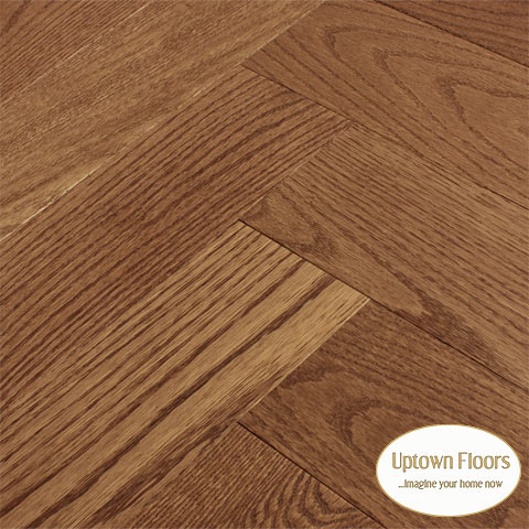 Honey brown chestnut clear red oak  Herringbone