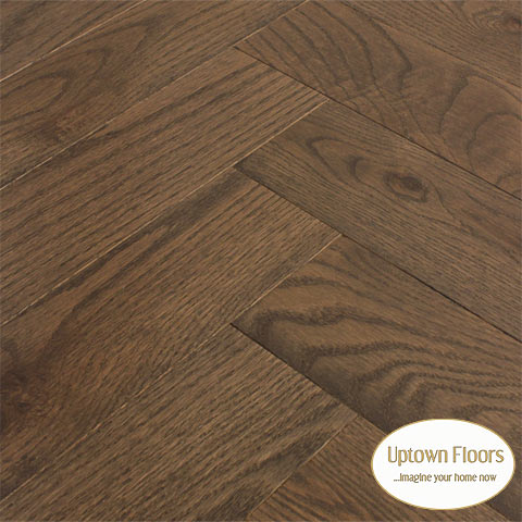 Brown, grey red oak character Herringbone