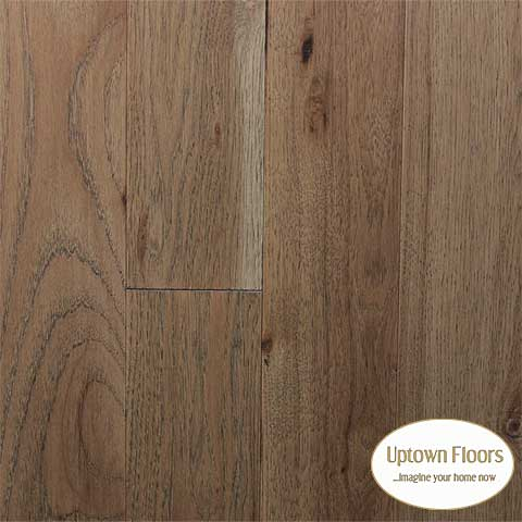 Light brown, grey wire brushed Hickory Hardwood