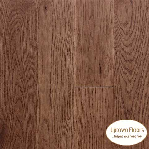 Rich, medium brown wire brushed White Oak