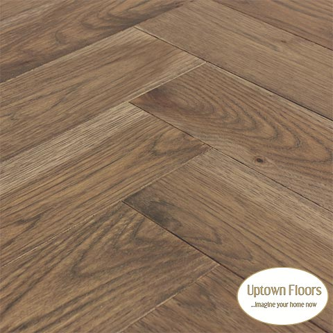 Medium brown greige Hickory herringbone