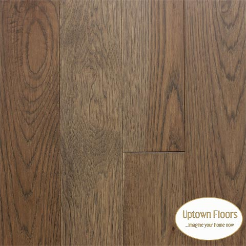 Medium brown greige Hickory Hardwood