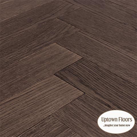 Dark white oak herringbone
