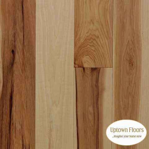 Natural character Hickory 3/4 inch engineered
