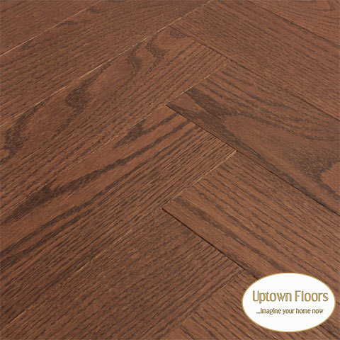 Rich brown red oak Herringbone