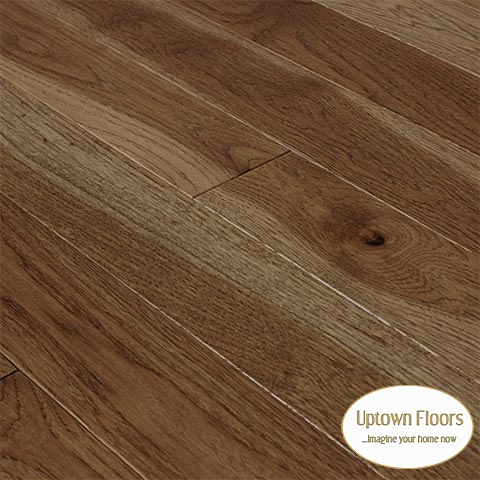 Teak brown stained character Hickory