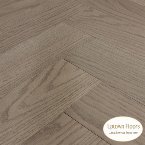 Cream, grey red oak Herringbone