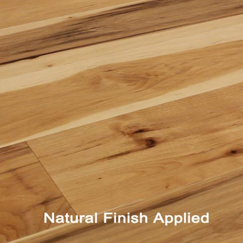 Unfinished Engineered Hickory Character hardwood