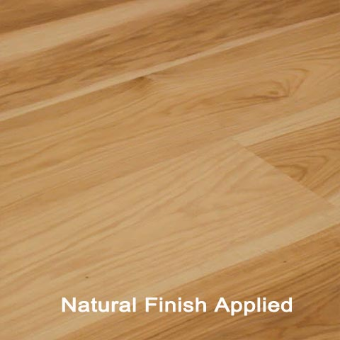 Unfinished Engineered Clear Hickory hardwood