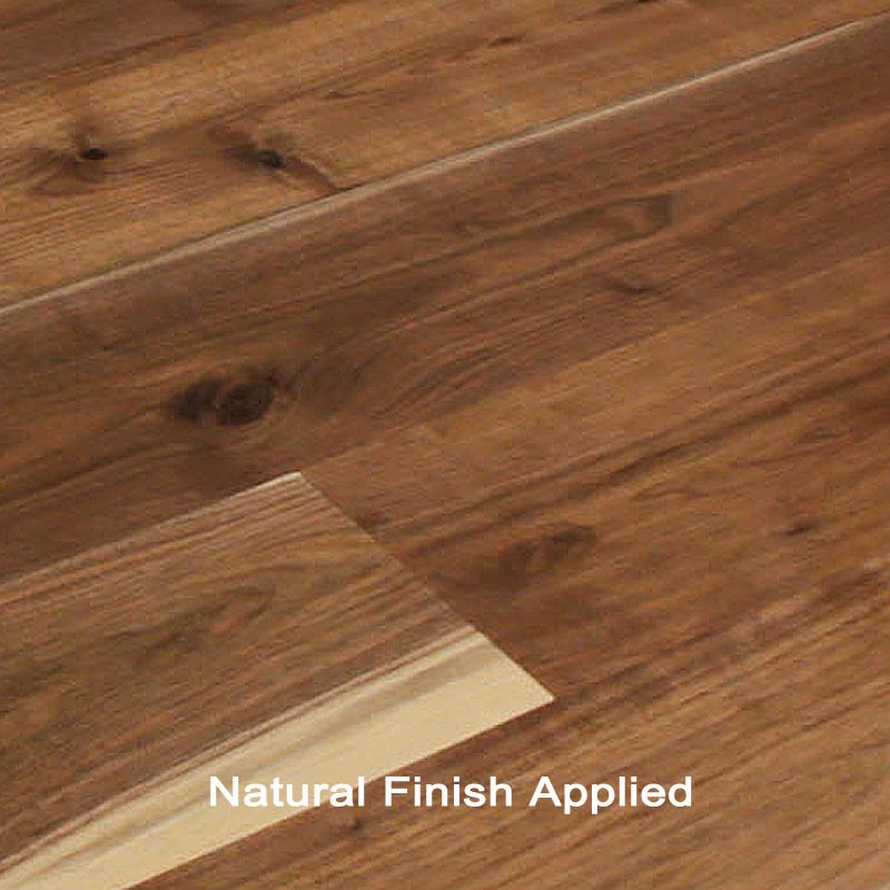 Unfinished engineered walnut character hardwood flooring for Unfinished walnut flooring