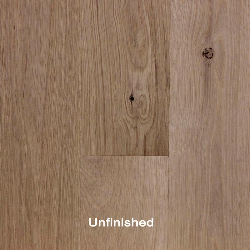 Unfinished Engineered White Oak Character Hardwood