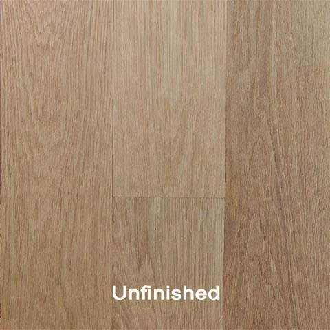 Unfinished Engineered White Oak Clear hardwood
