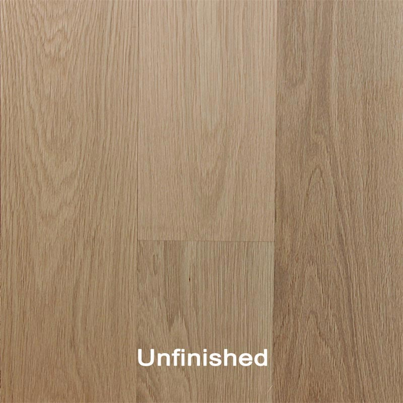 Unfinished engineered white oak clear hardwood flooring for Unfinished oak flooring