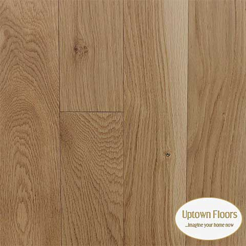 Natural wire brushed character white oak
