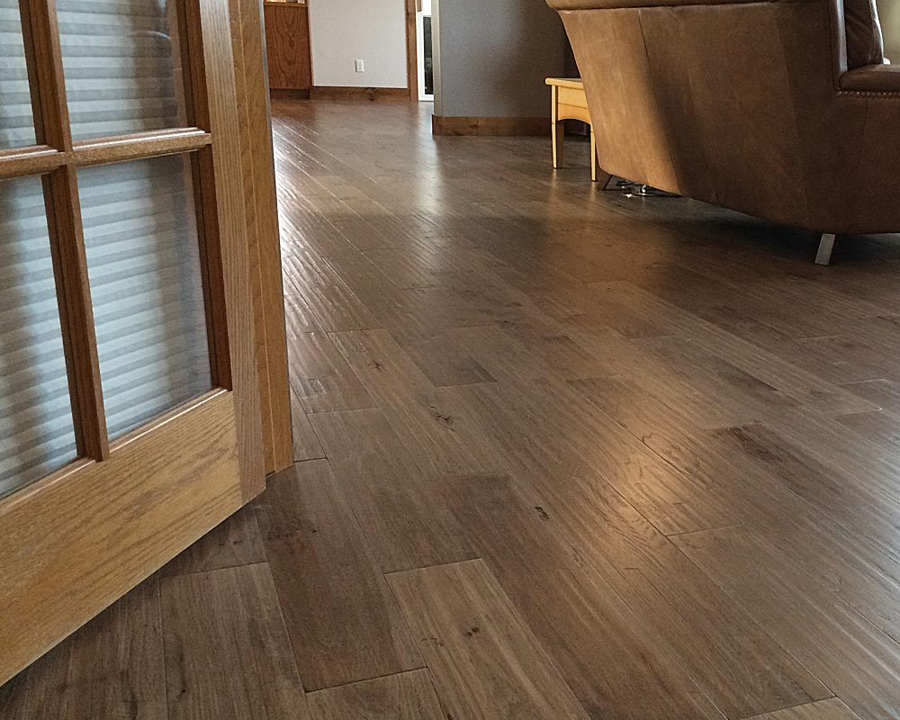Character Hickory Greige 7 Inch Wide Engineered Plank