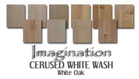 Wire brushed white oak hardwood flooring