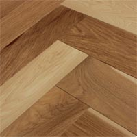 White Oak Character Herringbone