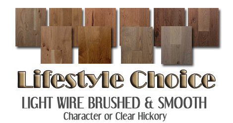 Wire brushed Hickory hardwoods