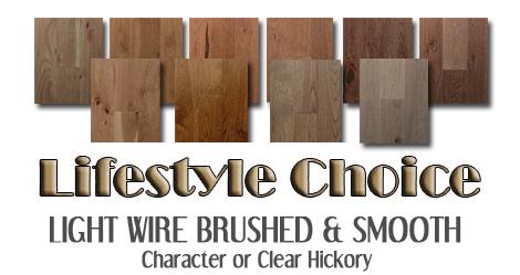 Wire brushed Hickory hardwoods
