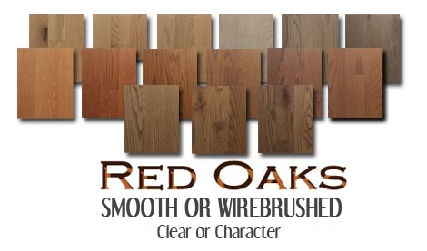 Smooth or wire brushed prefinished Red Oak