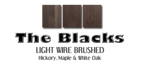 Black Wire brushed hardwood floors