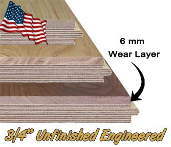 3/4 Inch Thick Engineered Hardwood Floors