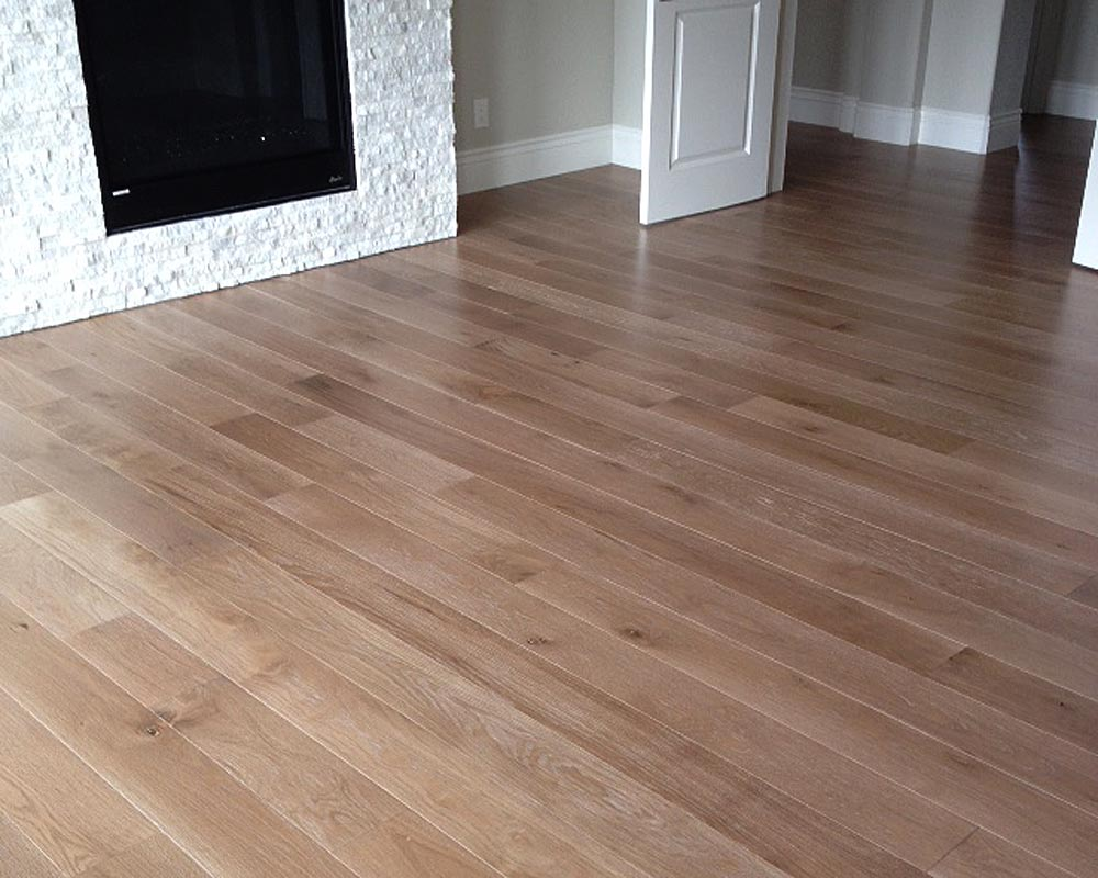 6 inch wdie engineered white oak