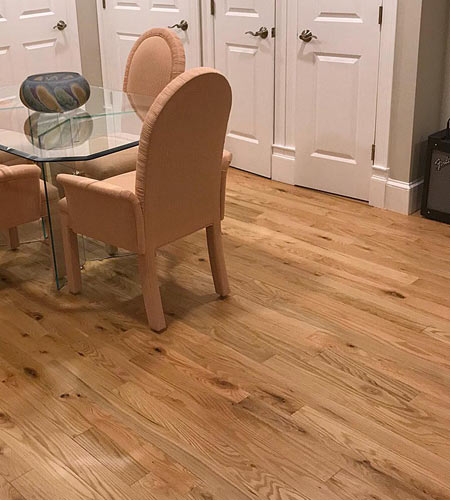 Traditional red oak hardwoods