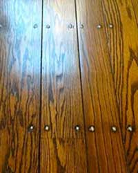 Antique top nailed floors
