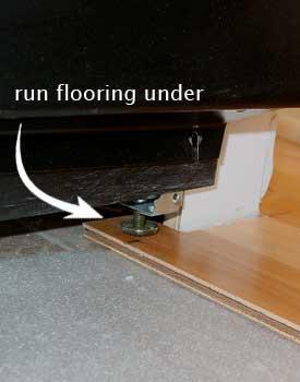 Wood Floors Under Appliances Refrigerators Stove