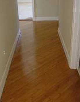 Bamboo floor installed on a diagonal
