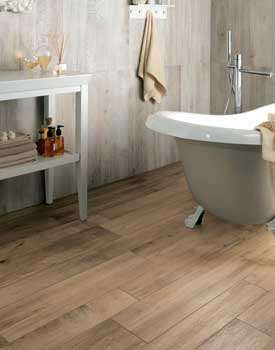 Hardwood Floor In Bathroom