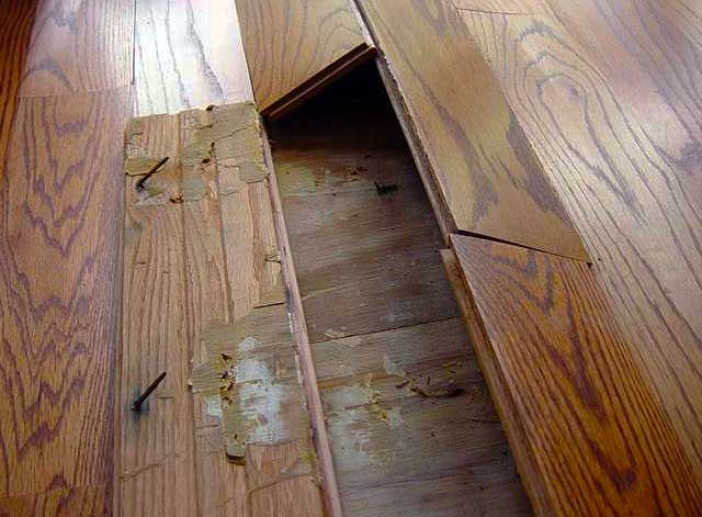 Floors Tenting floor boards - Buckled Hardwood Floors - Job Analysis. Why? Fixes