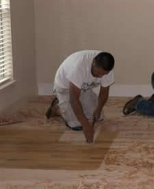 Custom hand scraping hardwood floor