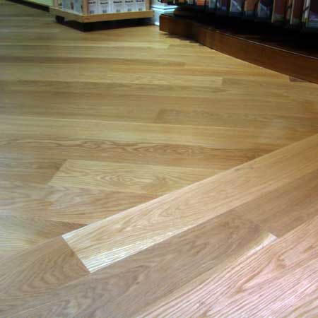Hardwood flooring layout which direction diagonal for Wood floor 90 degree turn