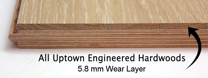 34 Inch Thick Engineered Hardwood Flooring 52 Mm Wear Layer