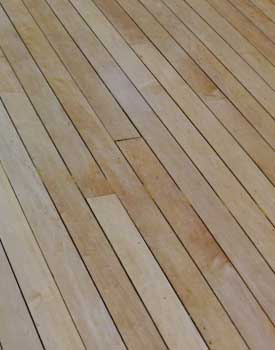 Gapped maple floor