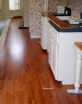 Hardwood over vinyl kitchen floor
