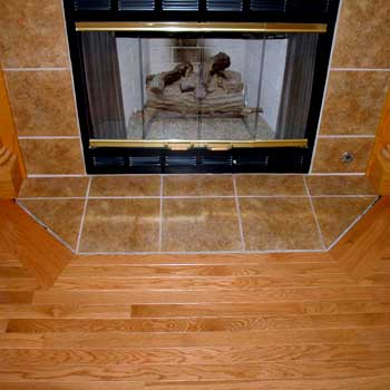 Hardwood At Fireplace Hearths Installation Methods